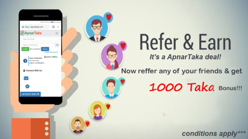 refer and earn with apnartaka